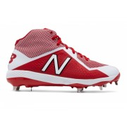 New Balance Mid-Cut 4040v4 Metal Baseball Cleat Red with White