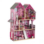 KidKraft 65944 Bella Dollhouse. a Modern Wooden Dolls House Standing Four Feet Tall. Includes Gliding Elevator and 16-Piece Accessory Kit for 12-inch Fashion Dolls.