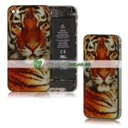 iPhone 4S Bakstycke Tiger (Orange)
