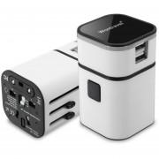 Energía del cargador del adaptador internacional Convertidor Mundial 94V0 PC USB para PDA equipo blanco