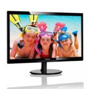 """Монитор Philips 246V5LDSB, 24"""" (60.96 cm) TN панел, Full HD, 1 ms, 10 000 000:1, 250 cd/m2, HDMI, VGA, DVI"""