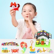 1200pcs DIY Fuse Bead Plastic Perler Sticky Water Beads Toys Funny For Kid DIY Crafts Gift