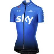 Castelli Team Sky 2019 Fan 19 - maglia bici - donna - Blue