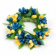 Ljusmanschett 2-pack bär blå och gul