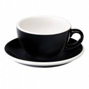 "Cappuccino-Tasse mit Untertasse Loveramics ""Egg Black"", 200 ml"