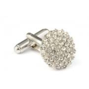 Mousie Bean Crystal Cufflinks Paved Round 118 Crystal