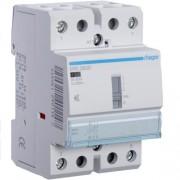 Hager, ERD263S, Csendes moduláris kontaktor 63A, kézi kapcsolással, 2 Záró érintkező, 24V AC/DC 50 Hz (Hager ERD263S)