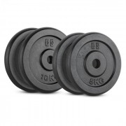 IPB 30 kg Conjunto de Placas de Peso 2 x 5 kg + 2 x 10 kg 30 mm