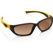 Vintage Rectangular Sunglasses(Brown)