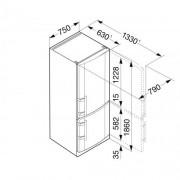GARANTIE 4 ANI Combina frigorifica Liebherr, clasa A++, congelator NoFrost, argintiu CNPesf 4613