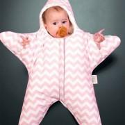 Linda Estrella De Mar Estilo Ropa Bolsa De Dormir De Bebe 0 - 6 Meses Baby, Tamaño: 85yard (rosa)