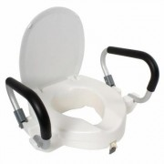 Raised Toilet Seat W/Handles by Coopers of Stortford