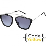 Code Yellow UV Protected Black Wayfarer Sunglasses For Men And Women