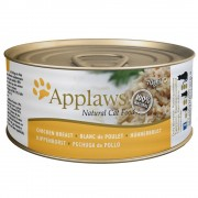 Applaws karma dla kota w bulionie, 6 x 70 g - Pierś z kurczaka z kaczką
