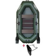 Čln Kolibri K-240 T zelený, lamelová podlaha + držiak