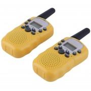 ER 2x RT-388 Walkie Talkie 0.5W 22CH Radio De Dos Vías Para Los Niños Regalo De Los Niños Amarillo