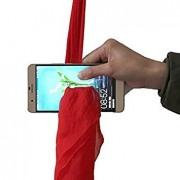 Tradico® Amazing Magic Red Silk Thru Phone by Close-up Street Magic Trick Show Prop Tool