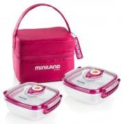 Miniland Contenedores De Alimentos + Bolsa Isotérmica Pack-2-Go Miniland 0m+