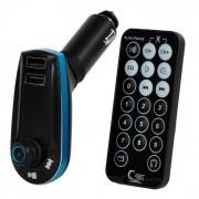 """1.1"""" coche reproductor de MP3 transmisor de FM w / 2-USB cargador y ranura TF - negro"""