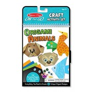 Melissa & Doug on-The-Go Crafts Animals Origami Activity Set, Multi Color