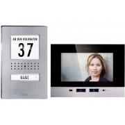 m-e modern-electronics Video-deurintercom Kabelgebonden Complete set voor 1 gezinswoning RVS, Zwart