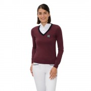 Spooks Mila Pullover - Donkerrood - Size: Extra Large