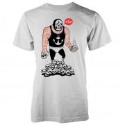 Abandon Ship Camiseta Abandon Ship Taco Wrestler - Hombre - Blanco - L - Blanco