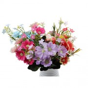 ELECTROPRIME Pink Artificial Flowers Silk Cherry Blossoms Flower Bouquet 10-Head Office