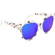 Hrinkar Cat-eye, Oval, Round Sunglasses(Blue)
