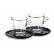 Set 2 cesti sticla espresso