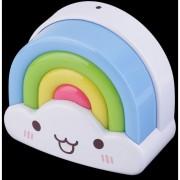 ER Mini Cute Cloud Rainbow LED Luz Lámpara De Noche Con Voz Y El Sensor -Multicolor