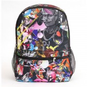 Mr. Gugu & Miss Go Popping Collage Backpack Bag BP000