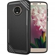 Para Motorola Moto G6 Plus Lattice Textura Volver Funda Protectora TPU Resistente (negro)