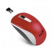 Miš USB Genius NX-7010, 1600dpi, Wireless Optički, Crvena/Bela