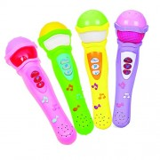 Kieana Mic for Kids, Musical Microphone Singing Toy with Lights and Clear Sound, Premium high quality product, specially designed for artistic children who loves to sing, return gift, birthday gifts online (pack of 4)