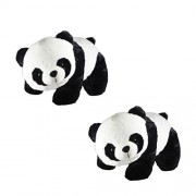 GDS 2 Set of Panda Soft toys combo large size for baby boy or girls / Animals Soft toys combo perfect gifts items ( White/Black , 40 cm)