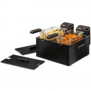 Princess Double Black Fryer Freidora 2x3L 2x1800W