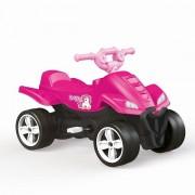 Vehicul ATV unicorn din plastic cu pedale pentru fete Dolu