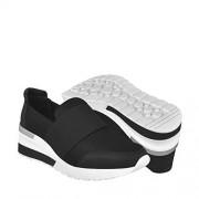 Capa de Ozono Zapatillas de Tenis para Mujer, Color Negro, 24