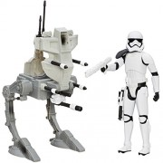 Star Wars 12 inches Figures & Vehicle Storm Trooper (First Order) and Assault Walker