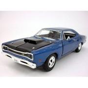 Dodge Coronet Super Bee -1969- 1/24 Scale Diecast Metal Model - BLUE