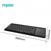 KBD, Rapoo K2600, Wireless, TouchPad, Black