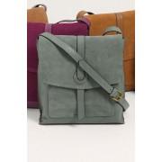 Womens Next Leather Messenger Bag - Green