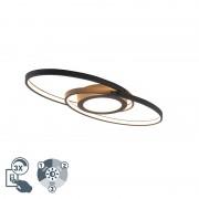 Trio Leuchten Design plafonnière zwart incl. LED 3-staps dimbaar - Axy