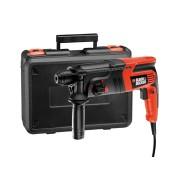 trapano martello tassellatore e scalpellatore sds plus 550w 1.6j con accessori kd885kc black & decker forare demolire scanalare