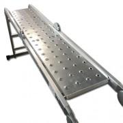 Max set DLLA301 pracovní kovová plošina 114 plus 87 x 29,3cm k žebříku 4x4