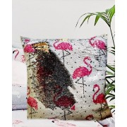 Flitteres Flamingó Díszpárna