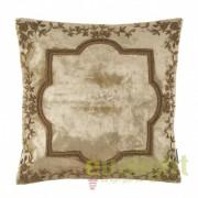 Perna din catifea cu broderie dim.40X40cm Ferrand bej/ auriu 109738 HZ
