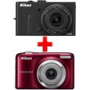 JA SAM LJUBAV! Nikon CoolPix P310 Crni + poklon Nikon CoolPix L25 Crveni