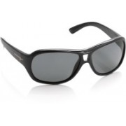 Polaroid Oval Sunglasses(Grey)